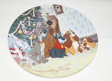 Lady & The Tramp Merry Christmas To All - Collector Plate Lady en de Vagabond