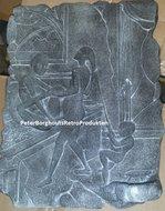 Kamasutra 15 Wall Plate Black - Erotische Afbeelding uit de KAMASUTRA