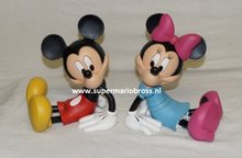 Disney Mickey Mouse & Minnie Bookends 22 cm groot New in Box Polyresin Statue