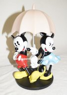 Mickey Minnie Onder Paraplu - Disney Mickey Mouse with Umbrella Nieuw Boxed Cartoon Figure