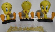 Tweety Trio Looney Tunes Cartoon Sculpture - Hear no evil, see no evil, speak no evil Deco Boxed