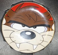 WB looney Tunes The Warner Brothers Gallery Collectors Edition Plate Tasmanian Devil Plate Boxed