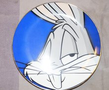 WB looney Tunes Warner Bros Collector Plate Bugs Bunny  2080 van 2500 Plate Boxed