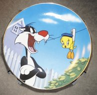 WB looney Tunes WARNER BROS GALLERY COLLECTOR'S EDITION PLATE BAD OL' PUTTY TAT Plate Boxed
