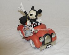 Mickey in Car 19 cm - Disney Mickey Mouse in Car Statue Used Boxed