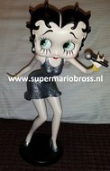 Betty Singer Statue -Betty Boop Singing Used microfoon los Dekoratiebeeldje
