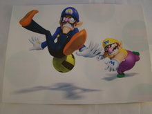 Strijkpatroon  Waluigi met Wario - iron on figure