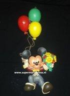Mickey Mouse hanging on Balloons - Disney Mickey aan Balonnen Gebruikt