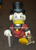 "Disney Medium Scrooge Mc Duck 15 "" Tall Statue Figurine - Dagobert Duck with Suitcase"