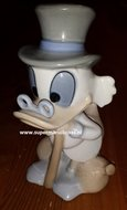 Scrooge Mc Duck Figurine Porcelain - Disney Dagobert Duck Porselein 20 cm Rare