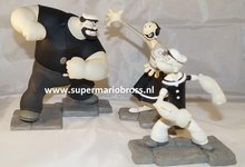 Popeye - Olive Oyl and Bluto Limited Edition Maquette set Made By Cypriano Studios 1999