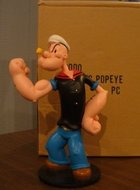 Classic Popeye Collectible Cartoon sculpture 21 cm Polyresin Boxed