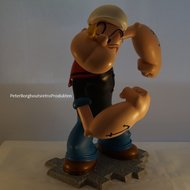 Popeye Holding Olive Polyresin Figurine 30 cm groot Boxed -  Cartoonstatue New in Box