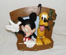 Mickey & Pluto Kapstok  - Mickey en Pluto Clothes Hanger - Disney Deco Beeldje - Boxed