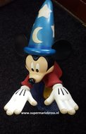 Mickey Mouse Socerer on Wave Big Statue Used with Light