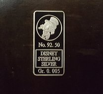 Scrooge - Walt Disney Sterling Silver Bar- Dagobert Duck Sterling Silver Baar