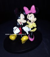 Mickey en Minnie Walking small 12 cm groot decoratiebeeldje - Mickey & Minnie wandelen Boxed