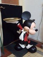 Mickey Mouse Butler - 93 cm - Disney Mickey Waiter Statue - zeer goede staat