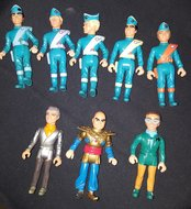Thunderbirds Matchbox Action Figure set  bestaat uit 8 Figuren