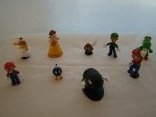 SETJE -  van 9 Mario figuren - Bullit Bill 4 cm