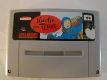 KUIFJE IN TIBET - Snes Game Cartridge