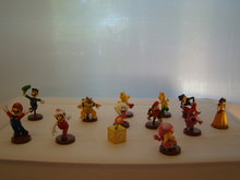 SETJE, 13 action figuurtje's,Mario Luigi Groene Koopa Bowser Fire Flower Rode Koopa Boo Diddy Kong Toadette Waluigi Dais