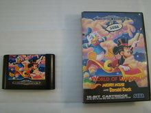World of illusion Mickey mouse and Donald Duck Sega Mega Drive 16 Bit Game & Box