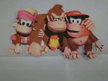 Strijkpatroon, Donkey, Dixie en Diddy Kong.