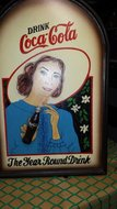 coca cola reclame bord,  gebruikt