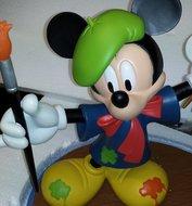 Mickey Painter With Photoframe - Decoratiebeeld - Nieuw staat