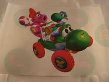 Strijkpatroon, Yoshi en Birdo iron on figure