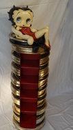 Betty Boop Cd Holder - deco beeld