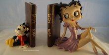 Betty Boop Boekensteunen - Polyresin Dekoratiebeeldje