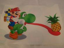 Strijkpatroon - Yoshi met  ananas
