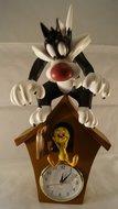 Sylvester  & Tweety Cuckoo - clock- decoratie Beeldje