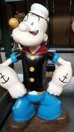 Popeye Stand Alone 100 cm hoog - Resin beeld