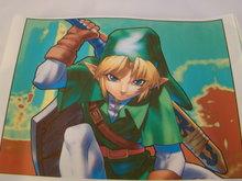 Strijkpatroon - Zelda action figure met zwaard op de rug