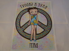 Strijk patroon Betty Boop Have a Groovy Day