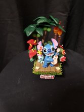 Stitch playing Guitar Hawaiian Theme Beast Kingdom Diorama Pvc Statue